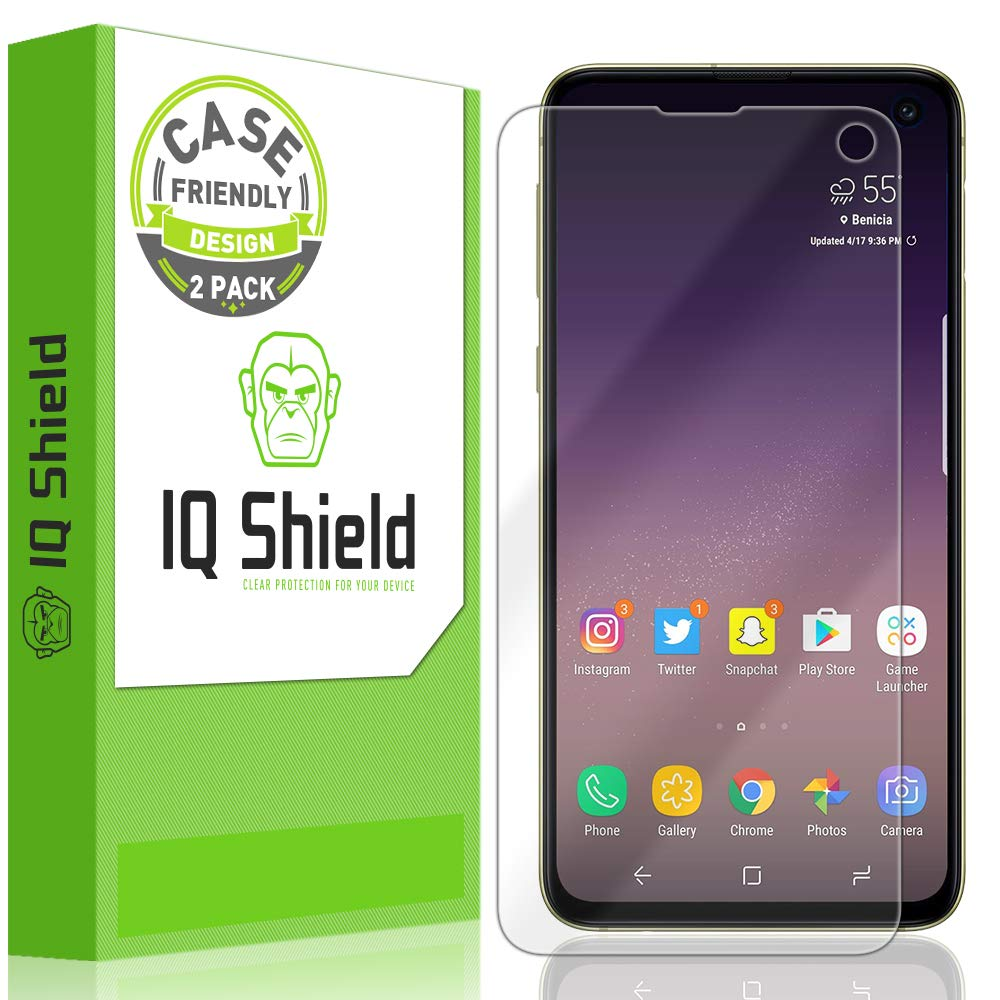 "Samsung Galaxy S10e Screen Protector (5.8"")Case Friendly, IQ Shield LiQuidSkin Full Coverage Screen Protector for Samsung Galaxy S10e HD Clear Anti-Bubble Film"