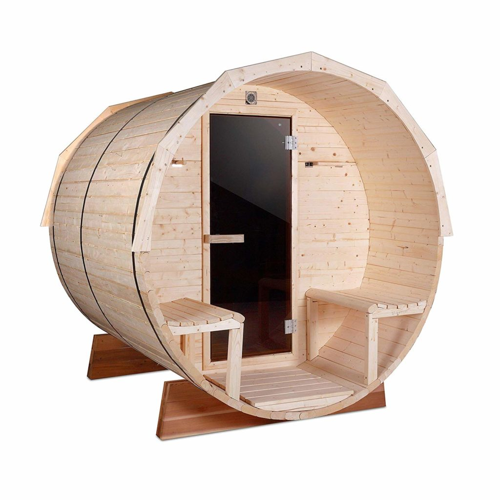 ALEKO SB7ABPI pine indoor outdoor wet-dry barrel sauna: