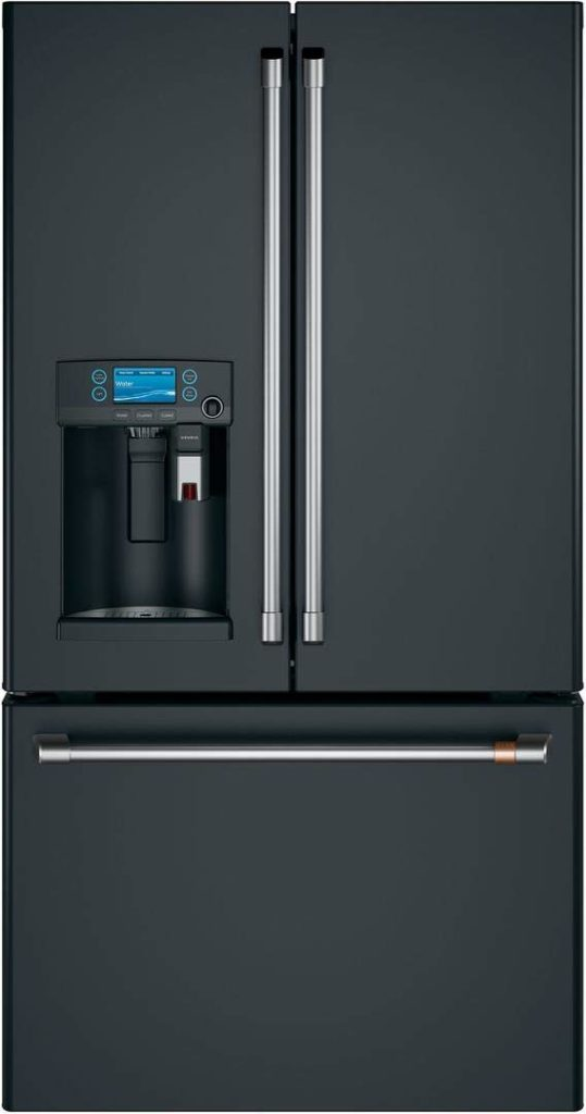 Ge Cafe CYE22UP3MD1 Matte Collection Series 36 Inch Counter Depth French Door Refrigerator