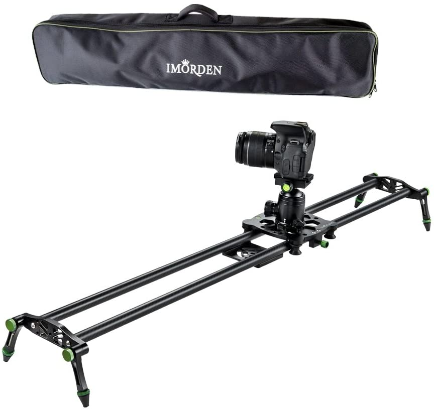 "IMORDEN 32""/80cm Carbon Fiber Video Stabilization Camera Slider(Up to 6kg/13.2lbs) DSLR Rail Dolly Track Film Making Kit for Youtuber, Works with Canon..."