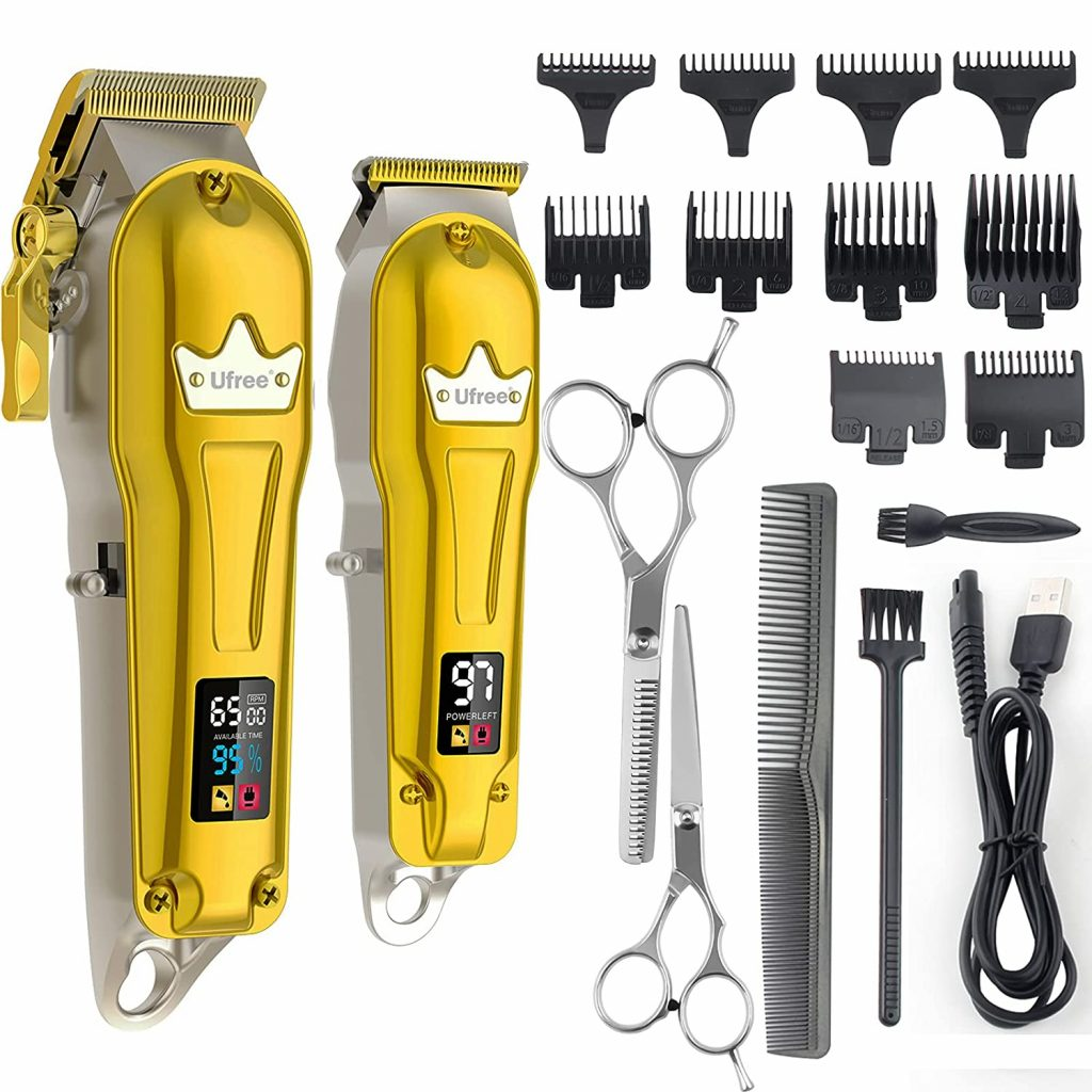 3. Ufree Hair Clippers for Men + T-Blade Trimmer Kit