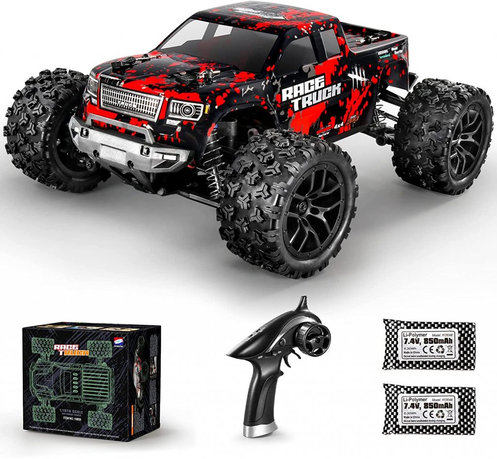 3. HAIBOXING 1:18 Scale All Terrain RC Car 36KM/H High Speed, 4WD Electric Vehicle,2.4
