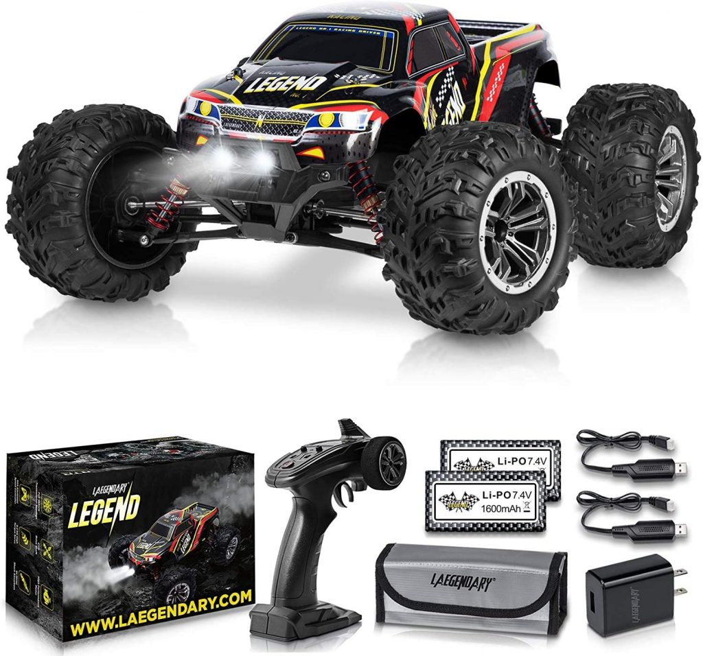 5. 1:10 Scale Large RC Cars 50+ kmh Speed - Boys Remote Control Car 4x4 Off Road