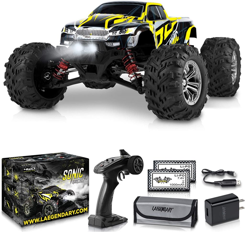 4. 1:16 Scale Large RC Cars 40+ kmh Speed - Boys Remote Control Car 4x4 Off Road
