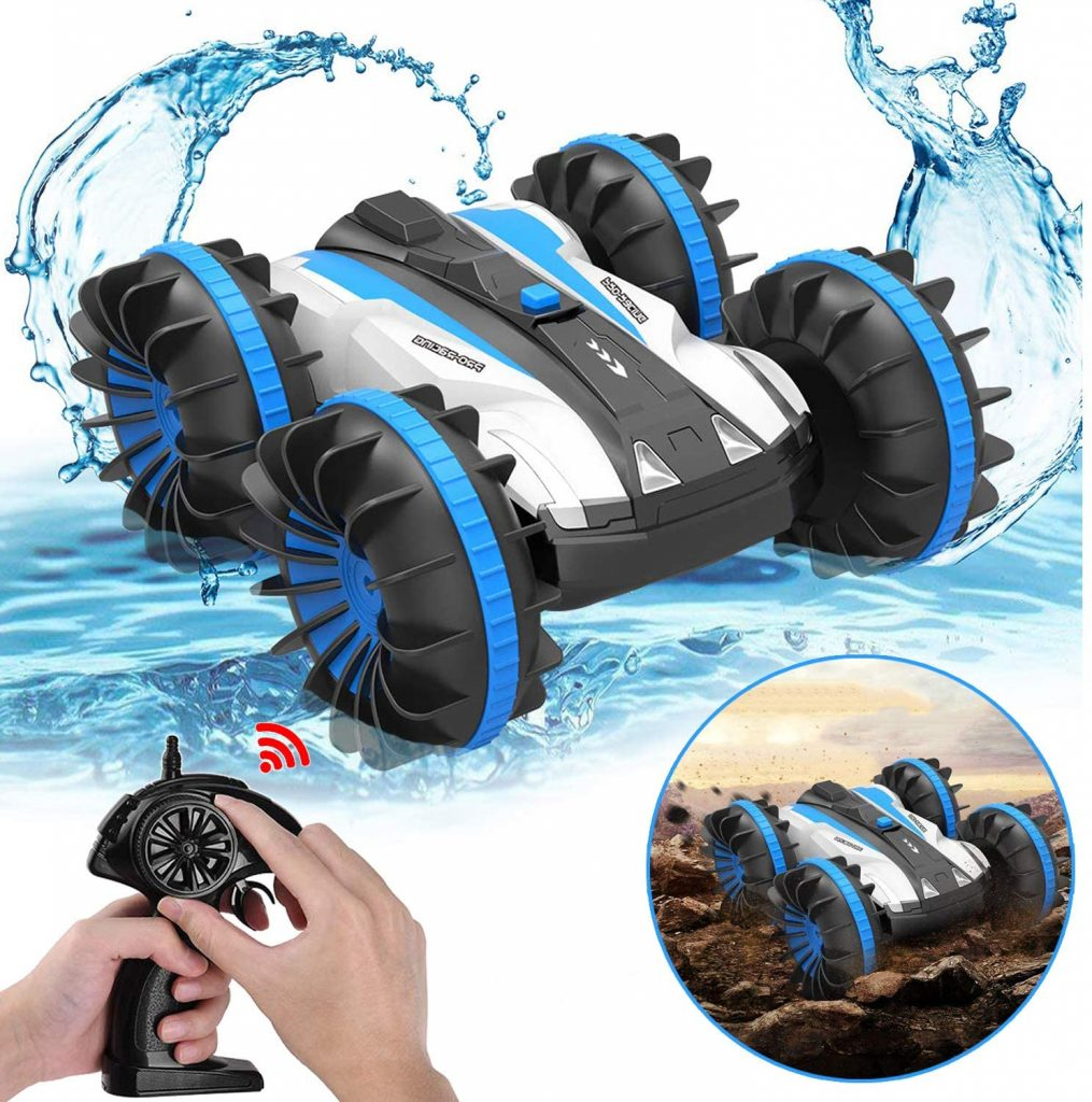 1. Pussan RC Car Toys for 5-12 Year Old Boys Amphibious Remote Control Car for Kids 2.4 GHz