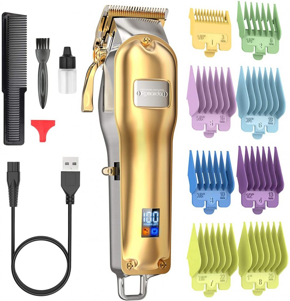 4. Romanda Hair Clippers ,Mens Clippers for Hair Cutting Professional
