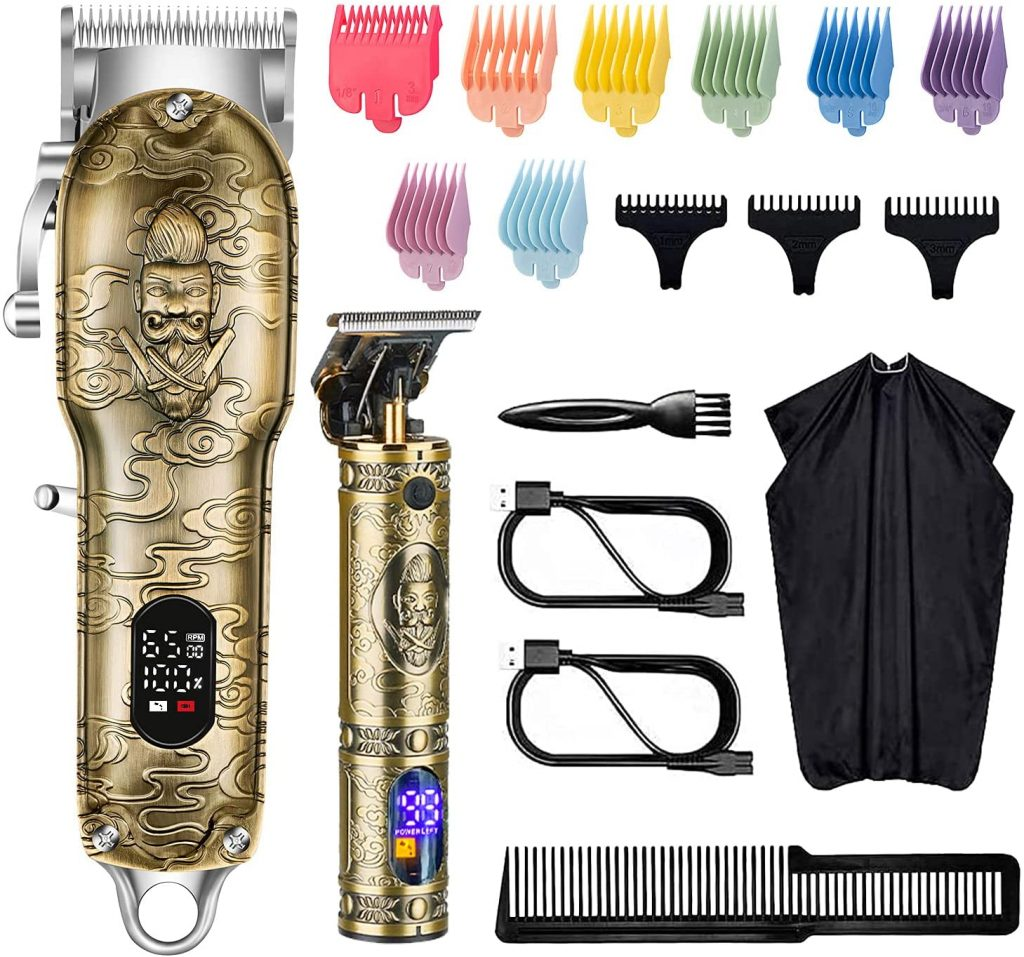 2. Roziapro Hair Clippers for Men T-Blade Trimmer Professional Barber Clippers